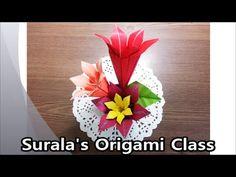 Origami - Amaryllis (Flower) / 종이접기 - 아마릴리스 꽃