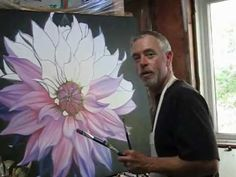 Dahlia - Painting Steps Source by angelasengul This video is a basic painting demonstration of Evan Maxwell as he shows the steps involved in completing one of his works. Hi everyone this is a step by step oil painting tutorial on how to paint a dahlia fl Oil Painting Basics, Basic Painting, Acrylic Painting Techniques, Step By Step Painting, Painting Lessons, Acrylic Paintings, Painting & Drawing, Painting Steps, Acrylic Art