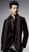 Burgundy Tuxedo Jacket and leather pants with scarf.   5 Style Risks Men Should Take This Fall   www.divinestyle.co
