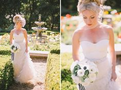 Green Wedding Shoes Feature : BHLDN Bustier and Skirt, Black and White Bouquet : Parisian Vow Renewal : Lovelyfest Event Design