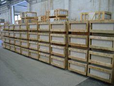 Crates of Moleanos Limestone