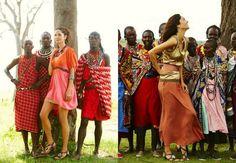 The Artsy Sisters: Blinging Tribals: Maa-What? Maasai!