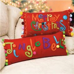 Very cute felt pillows from Lillian Vernon.
