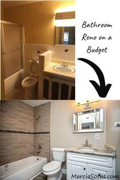 Budget friendly Bathroom remodel on a small hall bath Small Bathroom Ideas On A Budget, Small Hall, Level Homes, Bathroom Renos, Home Renovation, Flipping, Budgeting, Interior, Easy
