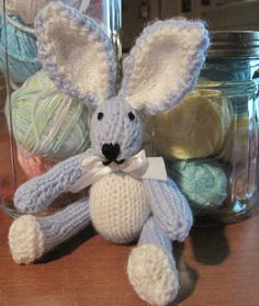 Itty Bitty Bunny 8 Inch Doll  Pattern   Knitted by LaurelArts
