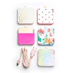 The cutest phone chargers! Ban.do Back Me Up! iphone battery packs