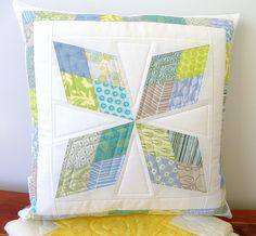 Arkansas Traveler Pillow (3) by love2quilt7, via Flickr