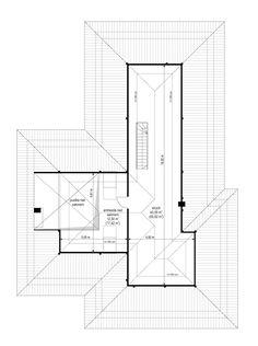 Projekt domu Uroczy - 146,47 m2 - Koszt budowy 254 tys. zł Bungalow, House Outside Design, Modern House Design, Bar Chart, House Plans, Floor Plans, Behance, How To Plan, Albums