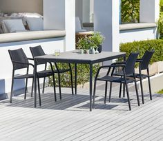 Table EDDERUP L150cm+4 chairs MADERNE | JYSK
