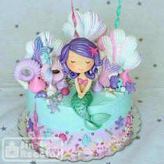 Little mermaid by Lori Mahoney (Lori's Custom Cakes) Little Mermaid Cakes, Mermaid Birthday Cakes, 3rd Birthday Cakes, Little Mermaid Birthday, Little Mermaid Parties, Sirenita Cake, Birthday Party Decorations, Birthday Parties, Mermaid Party Decorations
