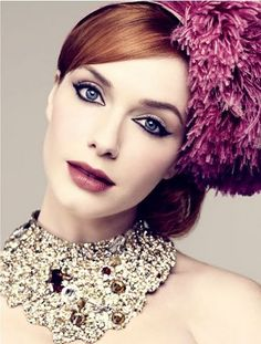 This is the actress from Mad Men Christina Hendricks giving good face.