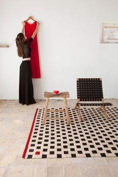 Pattern 3 rug. Thanks to the simplification of classic motifs such as geometric patterns and a pared colour palette, the Mélange is a contemporary version of the Kilim.