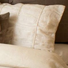 Simplicity Sham in White from Live Jakai. Love.
