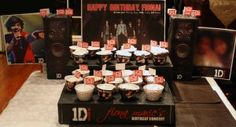 One Direction (1D) Concert Theme - Cupcake Stand