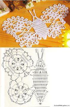 crochet butterflies, more ideas - crafts ideas - crafts for kids