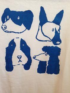 "Hand screenprinted t-shirt ""dog days"" illustrations:animals Dog Illustration, Illustrations, Silk Screen Printing, Animal Design, Animal Paintings, Dog Art, Lovers Art, Art Drawings, Animal Drawings"