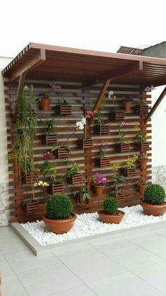 70 beautiful vertical garden design ideas for the summer – # garden decorations … – Vertical gardens - All About House Plants Decor, Plant Decor, Backyard Patio, Backyard Landscaping, Patio Roof, Vertical Garden Design, Vertical Gardens, Vertical Bar, Terrace Garden
