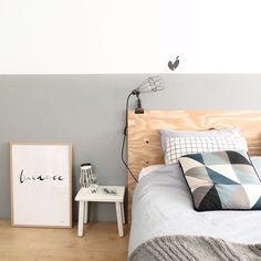 We hebben onze slaapkamer een kleine make-over gegeven door onze muur (half) te verven... | Use Instagram online! Websta is the Best Instagram Web Viewer!
