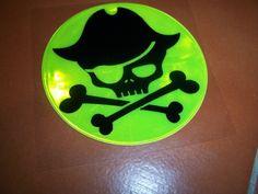 Skull n Bones Glow in the Dark Sticker