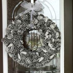 Silver Pine cone Christmas wreaths