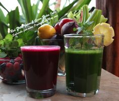 Red detox juice or green detox cleanse for weight loss