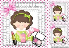 I am so pretty little girl on lace with makeup 8x8 on Craftsuprint - Add To Basket!