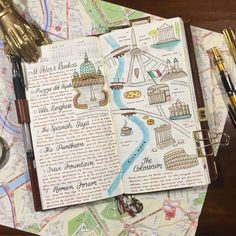 We're starting to get closer to vacation time, and I'm starting to paint a few maps into the old travel journal. I find that this approach gives me a better understanding of where things are situated in the cities I plan on visiting, especially when you spend so much time just wandering around. #wanderlust #travel #travelersnotebook #travelersnotebookinserts #traveljournal #travelling #midoritravelersnotebook #travelerscompany #travelerscompanynotebook #rome #italy #maps #watercolor…