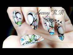 Negative Space - LeadLight Watercolour Abstract Stamping Nail Art - YouTube