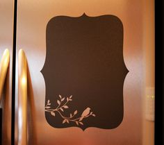 Chalkboard Vinyl Wall Decal (bird) - Great for the kitchen, office or anywhere in your home on Etsy, $19.95