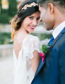 Elegantly Festive Tuscan Wedding Inspiration   Photos - Style Me Pretty