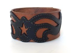 Leather bracelet cuff, leather bracelet, leather wristband, brown leather…