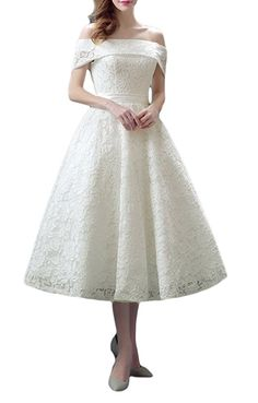 A style that we predict becoming a very popular dress style in the next couple months is a beautiful classic: tea length wedding dresses!
