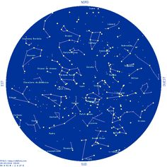 Carte du ciel - étoiles, constellations et planètes Constellations, Space And Astronomy, Numerology, Witchcraft, Astrology, Activities For Kids, Triangle, Bullet Journal, Sky