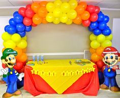 Balloon arch #videogameparty