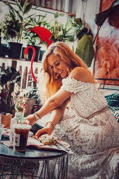White-Dress-Dreamer-Acai-Juice-Matcha-Miami-Beach-Restaurant-800x1200 Eats Travel Miami Beach Restaurants, Date Night Restaurants, White Maxi Dresses, Lace Dress, White Dress, White Lace, South Beach Florida, Date Night Fashion, Restaurant Guide