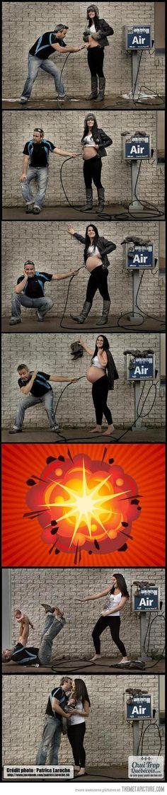 Sehe dir das Foto von MotherArt mit dem Titel So werden Babys also gemacht. Lustige Idee für ein Schwangerschaftsfoto und andere inspirierende Bilder auf Spaaz.de an.