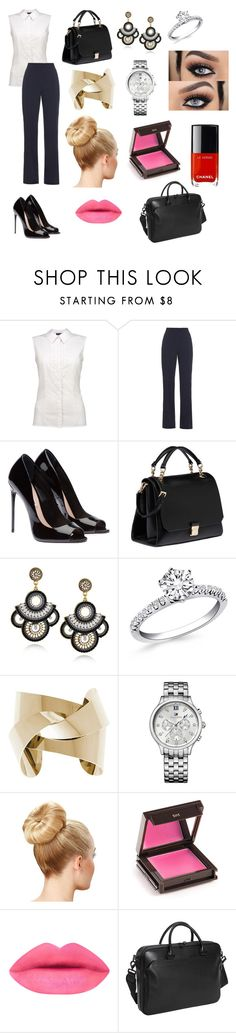 """""""Buisness Meeting"""" by i-love-miranda-sings ❤ liked on Polyvore featuring MaxMara, Miu Miu, Tommy Hilfiger, Jouer and Vince Camuto"""