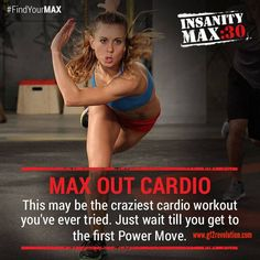 #InsanityMax30 Month 2: MAX OUT Cardio - Just try and get past the warmup before you #MAXOUT! #FindYourMAX