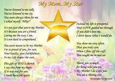 My Mom My Star... Happy Mother's day!!! - Poems about Friendship