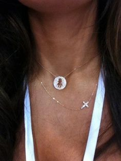 Boy/Girl necklaces & our sideways cross necklace (come rose gold, gold & silver)