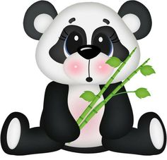 Surprised Panda Bear by - Minus Animals Images, Zoo Animals, Cute Animals, Cute Images, Cute Pictures, Cute Clipart, Jungle Clipart, Tatty Teddy, Punch Art