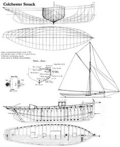 """Essex (Colchester) oyster smack """"Betty"""", built 1906 at Aldous, in Brightlingsea, Essex, England - pitch pine on oak frames - http://www.betty-ck145.de/docueng/betty_ck145/betty_specifications.html"""