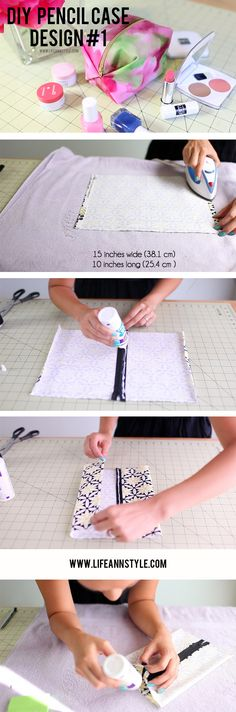DIY Pencil Case Design #1 | Back to School | www.lifeannstyle.com