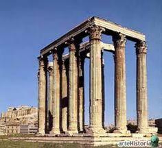 Olimpeidon. The Temple of Olympian Zeus. Athenas