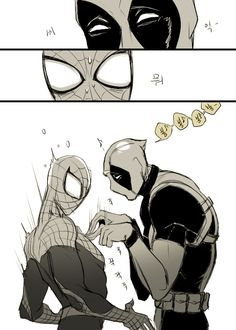 Spideypool (2/2) - pft. Nice, Deadpool XD Marvel Funny, Marvel Dc, Marvel Comics, Superfamily, Spideypool, Spaider Man, Deadpool X Spiderman, Batman, Cartoon Ships