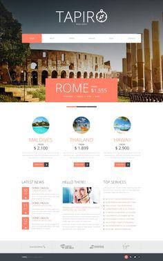 'Tapiro Travel' responsive #webdesign for Joomla 3 http://zign.nl/47949
