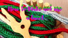 What 's a lucet? How to make a lucet? How to use a lucet? What to do with a lucet? All these questions will be answered in this little movie tutorial. Lucet, Tree Crafts, Yarn Crafts, Sock Loom, Finger Crochet, Knifty Knitter, Loom Knitting Patterns, I Cord, Spinning Yarn