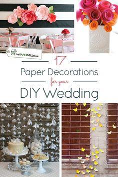 221 best diy wedding ideas images on pinterest wedding ideas 17 paper decorations for your diy wedding junglespirit Image collections