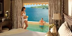 Sandals La Toc Resort & Hotel in St Lucia - All Inclusive Accommodations - honeymoon regency hideaway one bedroom suite with private pool