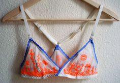 coyotegold: decadentandwilde: Neon flowers bra - FRKS Lingerie [x] I swear I will make this mine!